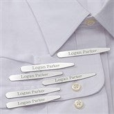 Classic Personalized Collar Stays Set of 3- Name - 18373-N