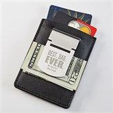 Best. Dad. Ever. Zippo® Personalized Money Clip & Credit Card Case - 18374