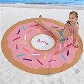 Donut Personalized Round Beach Towel - 18382