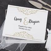 Rustic Chic Wedding Personalized Keepsake Memory Box - 18388