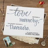 Memory Becomes A Treasure Personalized Keepsake Memory Box - 18392
