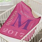 All About Baby Girl Personalized Premium Sherpa Blanket - 18396