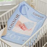 All About Baby Boy Personalized Sherpa Photo Blanket - 18397-P