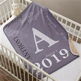 All About Baby Boy Personalized Sherpa Blanket - 18397