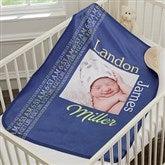 Darling Baby Boy Personalized Premium Sherpa Photo Blanket - 18400