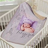 Darling Baby Girl Personalized Premium Sherpa Photo Blanket - 18401