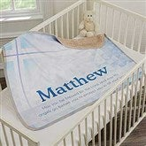May You Be Blessed Personalized Christening Premium Sherpa Blanket - 18403