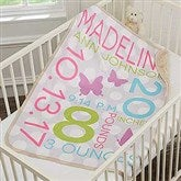 Sweet Baby Girl Personalized Sherpa Blanket - 18405
