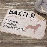 Definition of My Dog Personalized Premium Sherpa Blanket - 18407