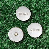 Silver Engraved Personalized Golf Ball Markers Set of 3- Name - 18418-N
