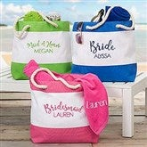 Bridal Party Embroidered Beach Tote - 18422