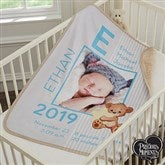 Precious Moments® Baby Boy Personalized Premium Sherpa Photo Blanket - 18457