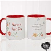 Precious Moments® Floral Personalized Coffee Mug 11 oz.- Red - 18471-R