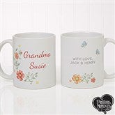 Precious Moments® Floral Personalized Coffee Mug 11 oz.- White - 18471-W