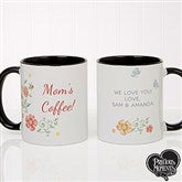Precious Moments® Floral Personalized Coffee Mug 11oz.- Black - 18471-B