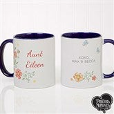 Precious Moments® Floral Personalized Coffee Mug 11 oz.- Blue - 18471-BL