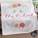 Precious Moments® Floral Personalized 50x60 Fleece Blanket - 18472
