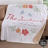 Precious Moments® Floral Personalized Premium 50x60 Sherpa Blanket - 18474