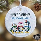 1-Sided Precious Moments® Personalized Penguin Christmas Ornament - 18479-1