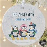 1-Sided Precious Moments® Personalized Penguin Christmas Ornament-Large - 18479-1L