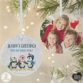 2-Sided Precious Moments® Personalized Penguin Christmas Ornament-Large - 18479-2L