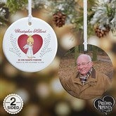 2-Sided Precious Moments® Personalized Memorial Christmas Ornament-Small - 18480-2