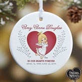 1-Sided Precious Moments® Personalized Memorial Christmas Ornament-Small - 18480-1
