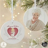 2-Sided Precious Moments® Personalized Memorial Christmas Ornament-Large - 18480-2L