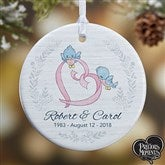 1-Sided Precious Moments® Personalized Anniversary Christmas Ornament-Small - 18481-1