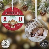 2-Sided Precious Moments® Personalized Baby's First Christmas Ornament-Small - 18482-2