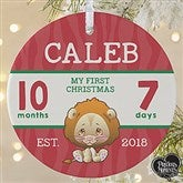 1-Sided Precious Moments® Personalized Baby's First Christmas Ornament-Large - 18482-1L