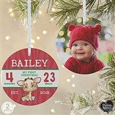 2-Sided Precious Moments® Personalized Baby's First Christmas Ornament-Large - 18482-2L