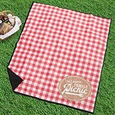 Picnic Plaid Personalized Picnic Blanket - 18487