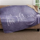 Together Forever Personalized Premium 60x80 Sherpa Blanket - 18491-L