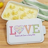 Close To Her Heart Personalized Cake Pan - 18498