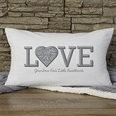 Close To Her Heart Personalized Lumbar Throw Pillow - 18502-LB