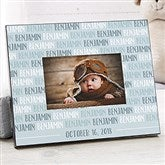 Modern Baby Boy Personalized Picture Frame - 18506