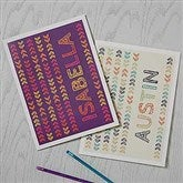 Stencil Name Personalized Folders - 18510