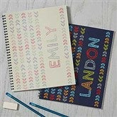 Stencil Name Personalized Large Notebooks-Set of 2 - 18511