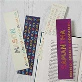 Stencil Name Personalized Paper Bookmarks Set of 4 - 18512