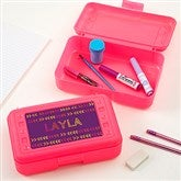 Stencil Name Personalized Pink Pencil Box - 18513-P