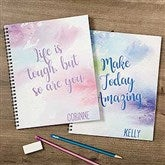 Watercolor Personalized Large Notebooks-Set of 2 - 18515