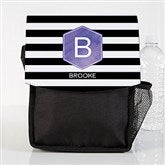 Modern Stripe Personalized Lunch Bag - 18523