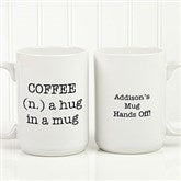 Expressions Personalized Coffee Mug 15 oz.- White - 18543-L