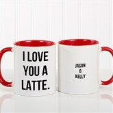 Expressions Personalized Coffee Mug 11 oz.- Red - 18543-R