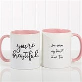 Expressions Personalized Coffee Mug 11 oz.- Pink - 18543-P
