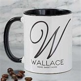 Initial Accent Personalized Coffee Mug 11 oz.- Black - 18544-B