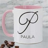 Initial Accent Personalized Coffee Mug 11 oz.- Pink - 18544-P