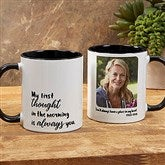 Loving Memory Memorial Personalized Photo Coffee Mug 11 oz.- Black - 18545-B