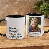 Loving Memory Memorial Personalized Photo Coffee Mug 11 oz.- Black - 18545-B